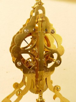 Gustav Becker Skeleton, Clock Back