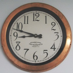 ITR 12 in. Copper slave clock 24 VDC