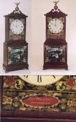 Levi Hutchins Massachusetts shelf clock