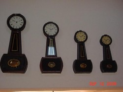 Howard and Davis banjo clocks, numbers 2 through 5