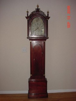 Roxbury cased tall clock