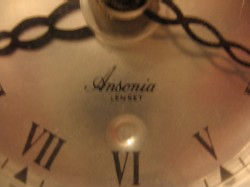 Ansonia 'Lenset,' Detail of dial.