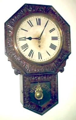 New Haven Clock Co., New Haven Conn., Wall - Short Drop Octagon 'Branford'