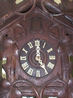 Black Forest Cuckoo Clock, Face and Dial.