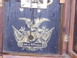 Label of HAC Mini Cottage Clock.