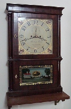 Clark & Morse 4 column shelf clock.