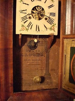 S. Hoadley OG clock showing label.
