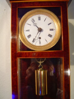 Vienna miniature clock, Upper Case and Weight.