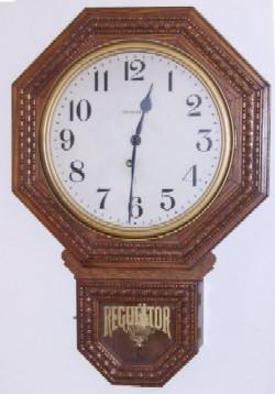 Ingraham Drop Octagon Wall Clock.