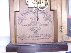 Label of Haas Cottage Clock.
