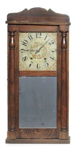 LUMAN WATSON CINCINNATI OHIO SHELF CLOCK, Full view.