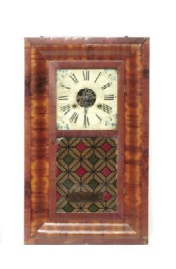 A. EMBERY, CLEVELAND, OHIO, RARE OGEE SHELF CLOCK, Full view.
