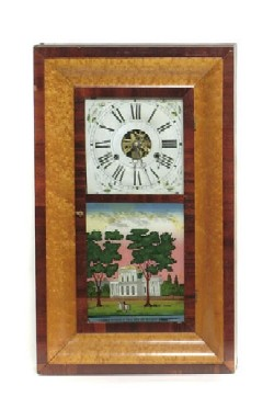FINE PRICHARD & HOLDEN, DAYTON, OHIO, OGEE SHELF CLOCK, Full view.
