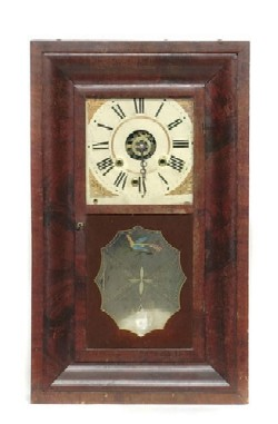 CRANE'S PATENT, CINCINNATI OGEE SHELF CLOCK, Full view.