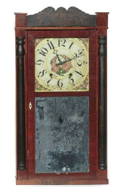 SEYMOUR WILLIAMS & PORTER, FARMINGTON, CT., SHELF CLOCK, Full view.
