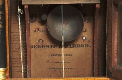JEROMES & DARROW, BRISTOL, CT., SHELF CLOCK, Paper label.