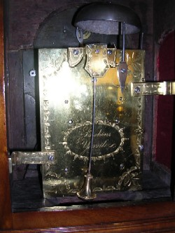 English fusee bracket clock, Movement.