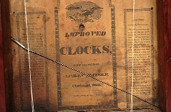 LUMAN WATSON, CINCINNATI, OHIO, SHELF CLOCK, Paper label.