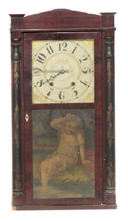 GEORGE MITCHELL, BRISTOL, CT., SHELF CLOCK, Full view.