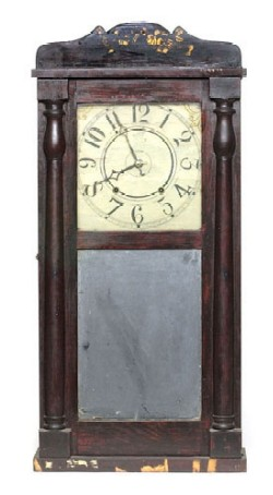 LUMAN WATSON, CINCINNATI, OHIO, SHELF CLOCK, Full view.