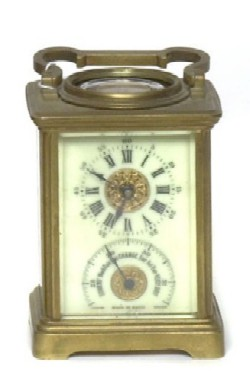 FRENCH CARRIAGE CLOCK PLUS, Front view.