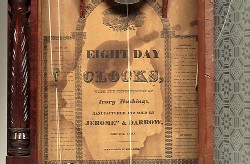 JEROMES & DARROW BRISTOL CT. SHELF CLOCK, Paper label.