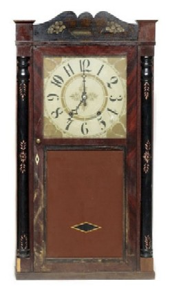 MARSH, WILLIAMS, & CO., DAYTON, OHIO, SHELF CLOCK, Full front view.