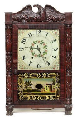 ALLISON TURNER, ASHTABULA, OHIO, SHELF CLOCK, Full front view.