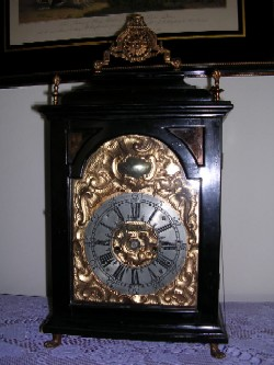 Austrian bracket clock, Full front view.