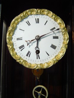 Biedermeier Vienna subminiature wall clock, Dial.