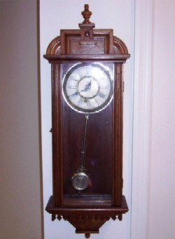 Waterbury Wall Clock, Prescott, Full front view.
