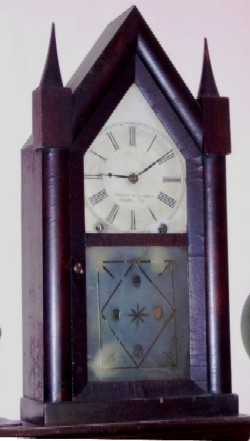 Brewster and Ingrahams Steeple Clock, Full front view.