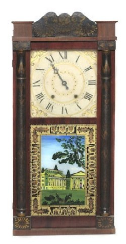 H. BLAKESLEE, CINCINNATI, OHIO, SHELF CLOCK, Full front view.