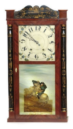 MARSH, WILLIAMS & CO., DAYTON, OHIO, SHELF CLOCK, Full front view.