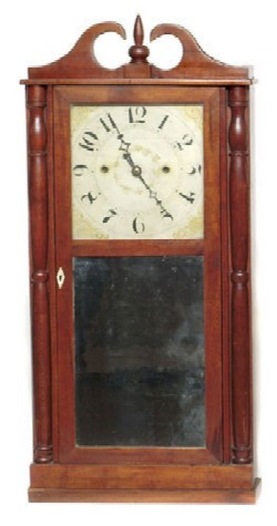 LUMAN WATSON, CINCINNATI, OHIO, SHELF CLOCK, Full front view.