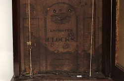 LUMAN WATSON, CINCINNATI, OHIO, SHELF CLOCK, Label.
