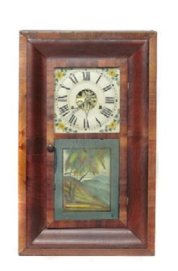 PRITCHARD AND HOLDEN, DAYTON, OHIO, OGEE SHELF CLOCK, Full front view.