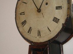 Willard and Son banjo clock, dial.