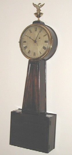 Willard and Son banjo clock, Full front view.
