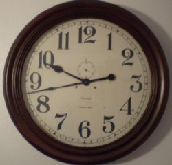 24 Inch Ansonia Gallery clock, Full front view, After.