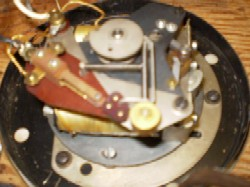 IBM Slave clock, close up of movement.